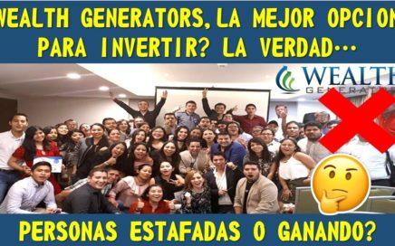 ESTAFA WEALTH GENERATORS, TIENES QUE VERLO...