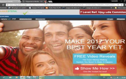 Excelente PTC para ganar dolares viendo Publicidad | CLIQUESTERIA