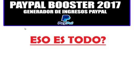 Explicación Sistema PayPal Booster Para Ganar Dinero Online