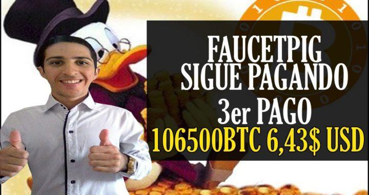 Faucetpig 3er Pago Recibido [106500 BTC 6,43$ USD] 12 de Noviembre - Bitcoin Faucet