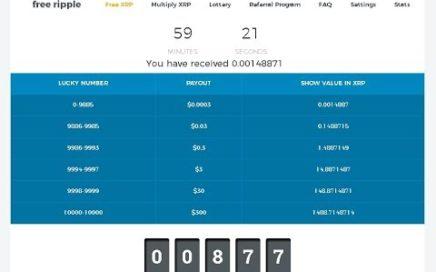 FREE XRP - Gana hasta $300 en Ripples Gratis cada 60 minutos