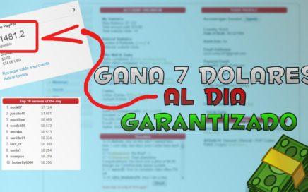 GANA 7 DOLARES DIARIO / GANAR DINERO POR INTERNET / BIEN EXPLICADO