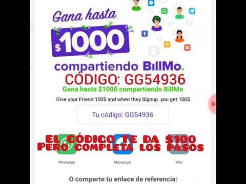 GANA DINERO CON BILLMO HASTA $1000 NOVIEMBRE-DICIEMBRE 2017