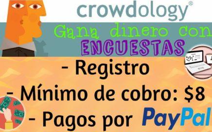 GANA DINERO CON ENCUESTAS 2017  CROWDOLOGY | PRUEBA DE PAGO|  ENCUESTAS PAGADAS POR INTERNET