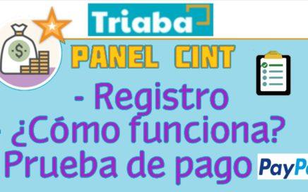 GANA DINERO CON ENCUESTAS 2017 TRIABA - PANEL CINT| PRUEBA DE PAGO POR PAYPAL