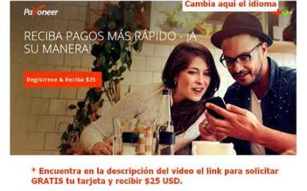 GANA DINERO CON PAYONEER - Tarjeta Mastercard Payoneer para trabajar online y retirar dinero