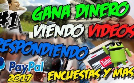 GANA DINERO DESDE TU CELULAR VIENDO VIDEOS, ENCUESTAS Y MAS | Dinero por internet 2017 | GRABPOINTS