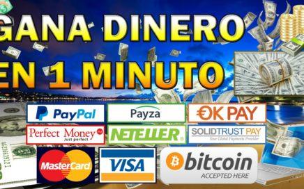 GANA DINERO EN 1 MINUTO | GANA HASTA + DE 3.000$ AL MES | LA MEJOR FORMA DE GANAR DINERO