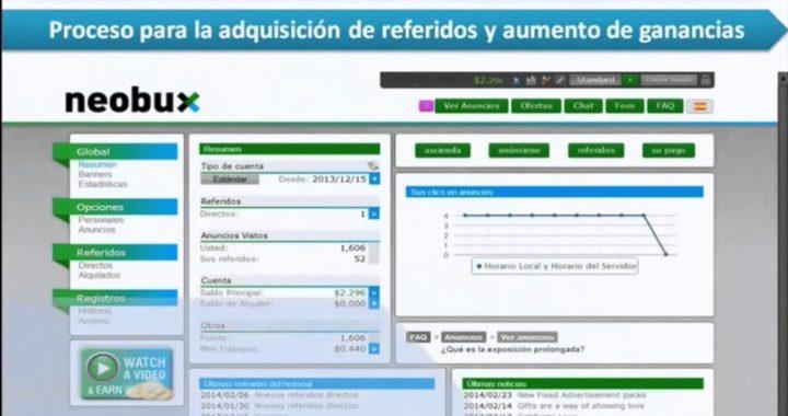 Gana dinero online 2015 con Neobux
