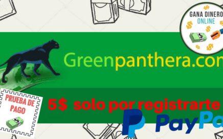 Gana Dinero Para PAYPAL Con Encuestas, 5$ CON SOLO REGISTRARTE | Green Panthera