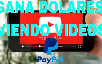 Gana dinero para paypal viendo videos de youtube
