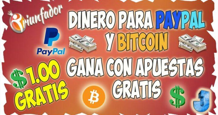 Gana dinero para Paypal y Regalos con Apuestas Deportivas Gratis |  1 Dolar de Regalo