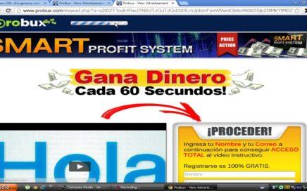 Gana dinero rapido con probux (ptc) + estrategia $50 diarios (paypal).