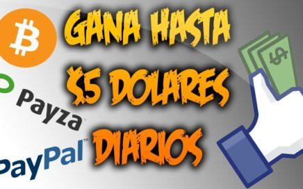 Gana Hasta $5 Dolares Diarios | Gana Dinero Rapido Y Facil | PayPal, Payza y BitCoin