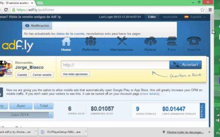 Ganar dinero Fácil con: AdFly !!! Acorta links fácilmente !