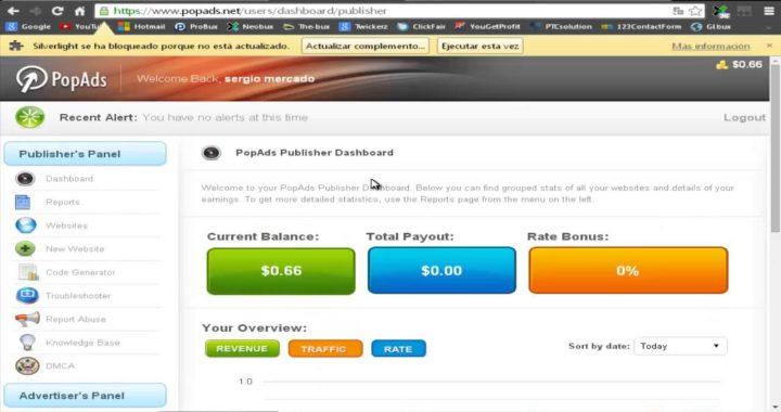 Ganar dinero para PayPal con mi sitio web