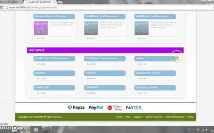 Ganar dinero viendo publicidad para Paypal,Payeer y Perfect Money Bux888 Bux999 2015