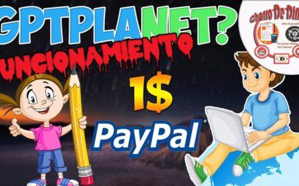 GPTPlanet Que es y Como Funciona pago Minimo 1$ | Ganar Dinero Paypal, Payza | Chorro De Dinero