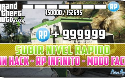 GTA 5 ONLINE 1.15 - SUBIR RAPIDO DE NIVEL Y GANAR DINERO FACIL - SIN HACK - RP INFINITO