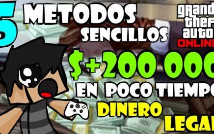 GTA 5 Online 1.40 - 5 METODOS Simples Para Ganar Dinero (LEGAL) En Poco Tiempo