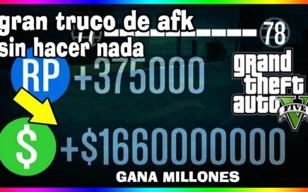 GTA V ONLINE DINERO INFININITO AFK GANA MUCHO DINERO SIN HACER NADA Money Glitch