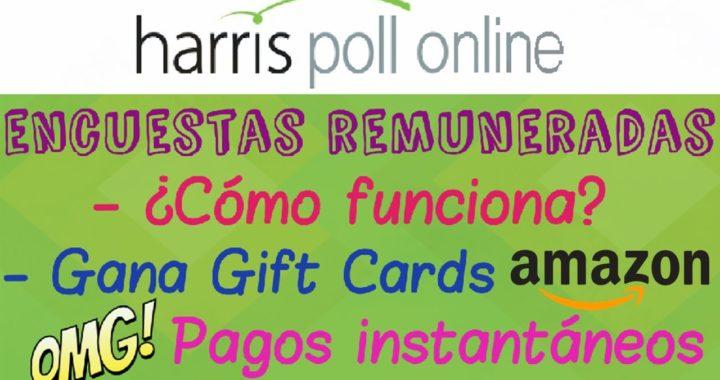 HARRIS POLL ONLINE PRUEBA DE PAGO GIFT CARD DE AMAZON   GANA DINERO CON ENCUESTAS 2017