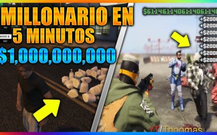 """HAZTE MILLONARIO $1.000.000 X 5 MIN EN """"GTA 5 ONLINE"""" CAPTURA MODEADA 1.41"""