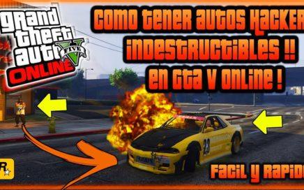 """INCREIBLE!! COMO TENER AUTOS """"INDESTRUCTIBLES EN"""" GTA V ONLINE FACIL Y RAPIDO  SIN MODS"""