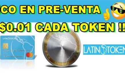 LATINO TOKEN | ICO EN PREVENTA $0.01 CADA TOKEN !! MULTIPLICA TU DINERO !! ICO DE CRIPTOMONEDAS