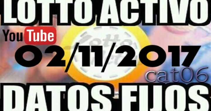 LOTTO ACTIVO DATOS FIJOS PARA GANAR  02/11/2017 cat06