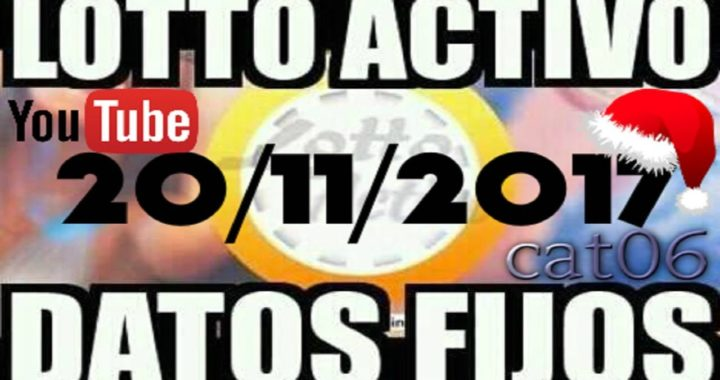 LOTTO ACTIVO DATOS FIJOS PARA GANAR  20/11/2017 cat06