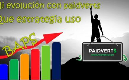 Mi evolución en Paidverts más estrategia | Como he subido de nivel rápido y gratis