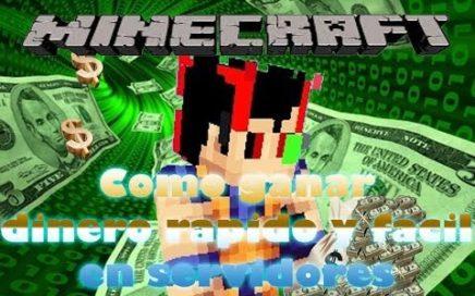 Minecraft como ganar dinero rapido en un server