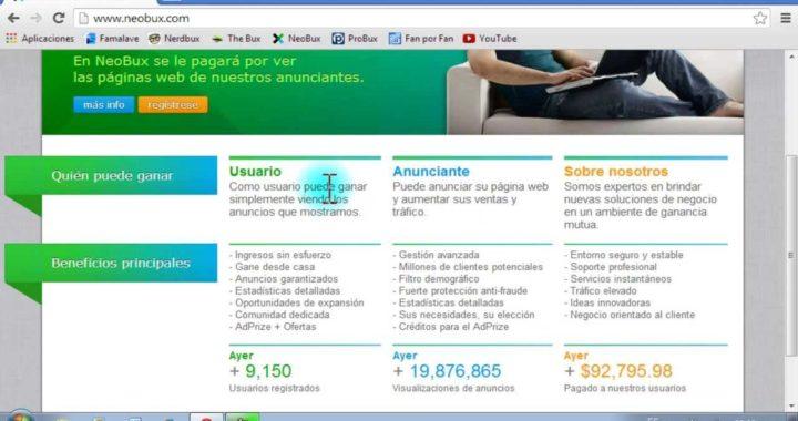 Neobux Tutorial - Como ganar dinero por internet para Paypal