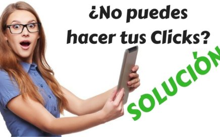 No puedes hacer los clicks Solucion CLICKEAME