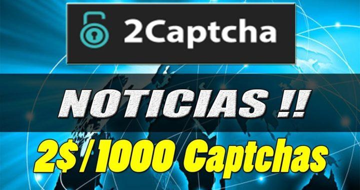 Noticias de 2Captcha | 2$/1000 Captchas | Gana Dinero Resolviendo Captchas | Gokustian