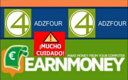 NOTÍCIAS!!  EARN MONEY NETWORK + NUEVA PÁGINA ADZFOUR - PRUEBA DE PAGO $5.00 - 12 NOVIEMBRE