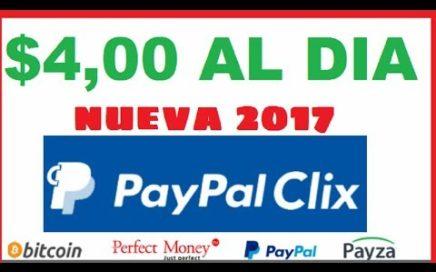 NOVA PTC PAYPALCLIX PAGANDO $4,00 AL DIA + MEMBRESIA GOLDEN GRATIS - MINIMUM HWTHDRAW 2$