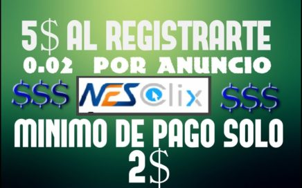 NUEVA PTC NESCLIX LA MEJOR PTC MINIMO DE PAGO 2$   GANAR DINERO ONLINE VENEZUELA