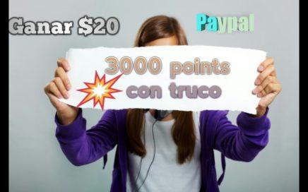 Nuevo truco!!! GANAR $50 diario con pointsprizes 3000 POINTS gratis