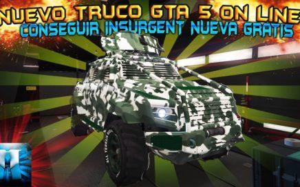 NUEVO TRUCO GTA 5 ONLINE SOLO SIN AYUDA COMO DUPLICAR TU INSURGENT PS4 XBOX ONE