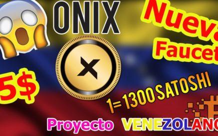 Onix Faucet, Explicación COMPLETA , Proyecto Venezolano   10000 BTC Diarios   Chorro De Dinero