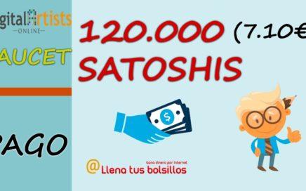 Pago semanal Digital Artists Online   120.663 (7,10€) satoshis gratis en Coinbase