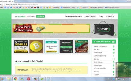 Paidverts - anuncios de 1$ y mas - Ganar Dinero Online - 1$ Pago Instantáneo. Paypal