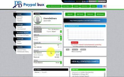 PaypalBux, Gana 1$ a 2$ Dolares Semanales Solo Viendo Anuncios | Chorro De Dinero