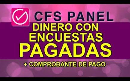 PRIMER PAGO DE CFS PANEL | GANA DINERO CON ENCUESTAS REMUNERADAS UK-USA 2017