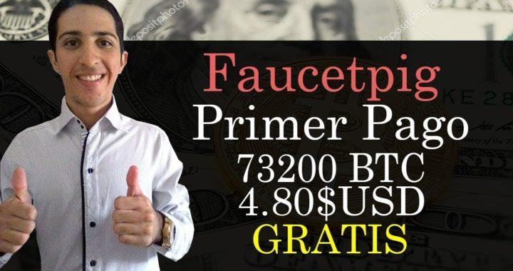 Primer Pago de Faucetpig [73200 BTC 4.80$ USD] Como Ganar Bitcoin Gratis Fácil y Rápido Comprobado