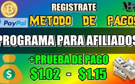 PROGRAMA DE AFILIADOS PARA GANAR DINERO CON PRUEBA DE PAGO ( MÍNIMO PAGO $1.00 ) PAYPAL O BTC