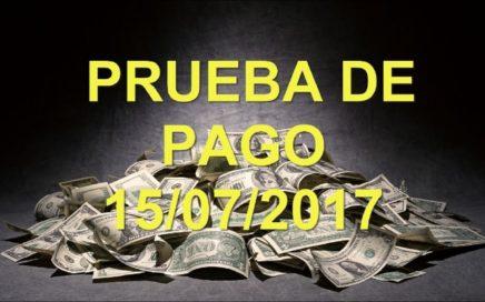 PRUEBA DE PAGO 15/07/2017   GANA DINERO ONLINE