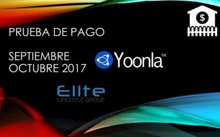 Prueba de Pago de Yoonla de Octubre 2017 Grupo Elite !!!